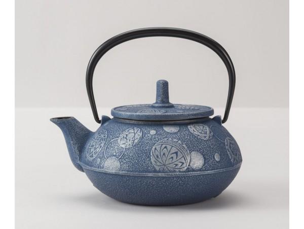 Ceainic din Fonta Komari Albastru 0.65L