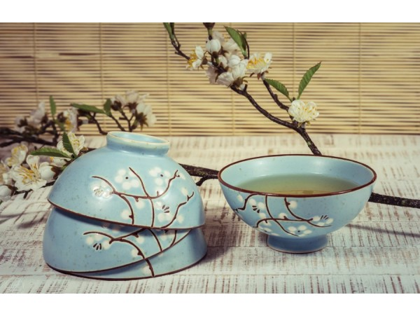 """Bol Japonez """"Cherry Blossom"""" pentru Ceai verde Matcha"""