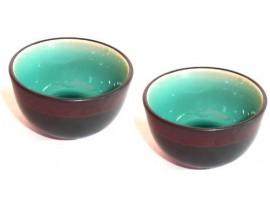 Cupa pentru Ceai lucrata manual Celadon Albastra