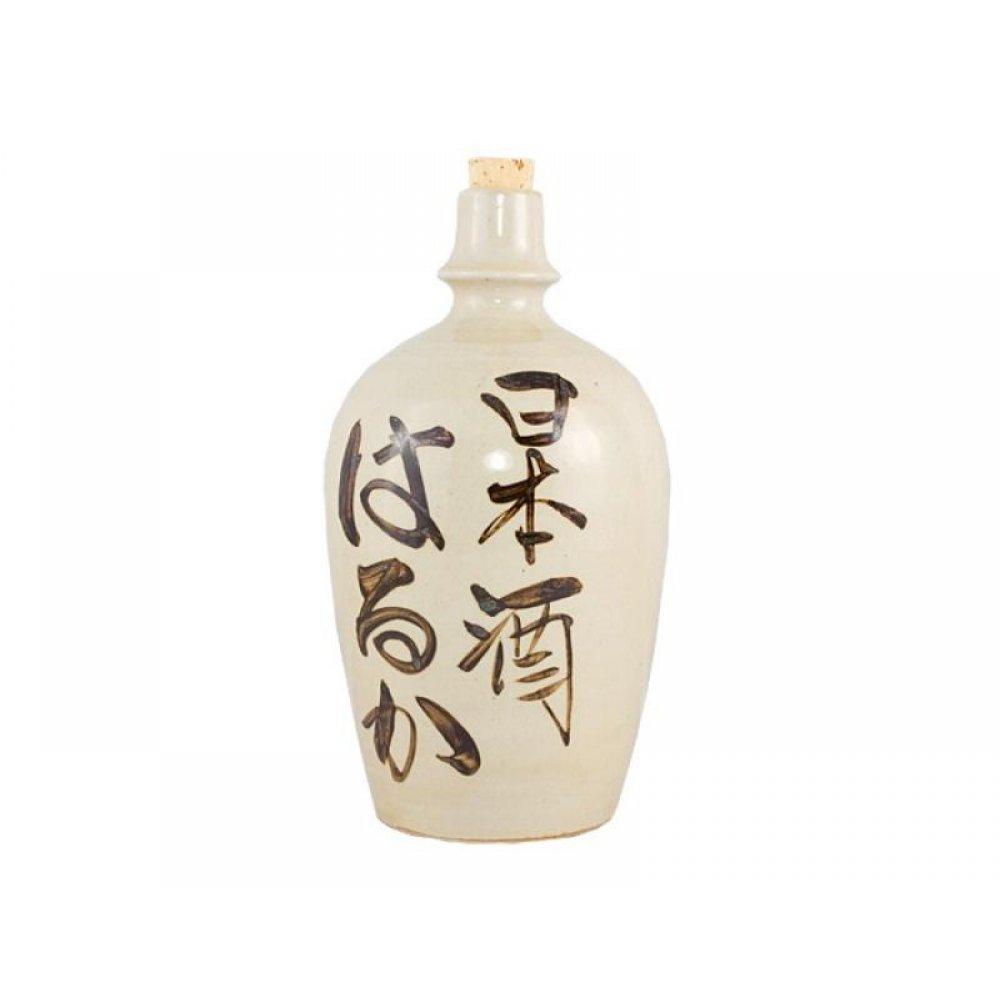 Butelca pentru sake cu caractere kanji