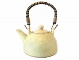 Ceainic Japonez din Ceramica Celadon galben