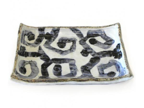 Platou ceramic pentru Sushi cu Valuri