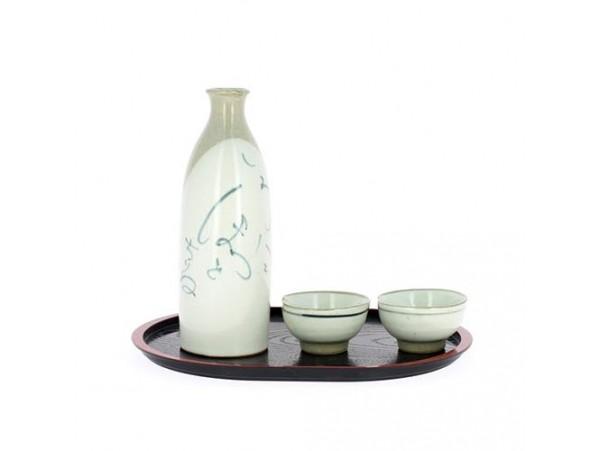 Set ceramic japonez pentru sake lucrat manual