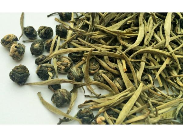Muguri de Ceai Alb cu Jasmine Pearls