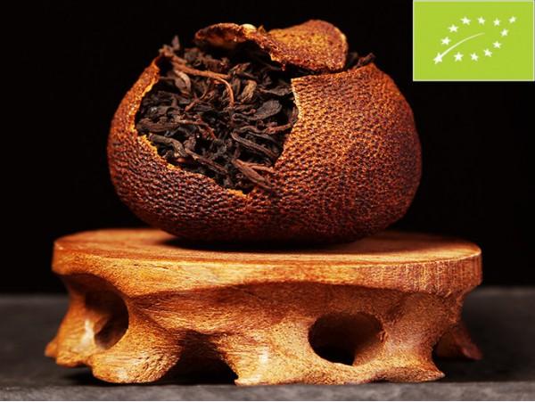 Tangerine umplute cu Ceai Pu Erh