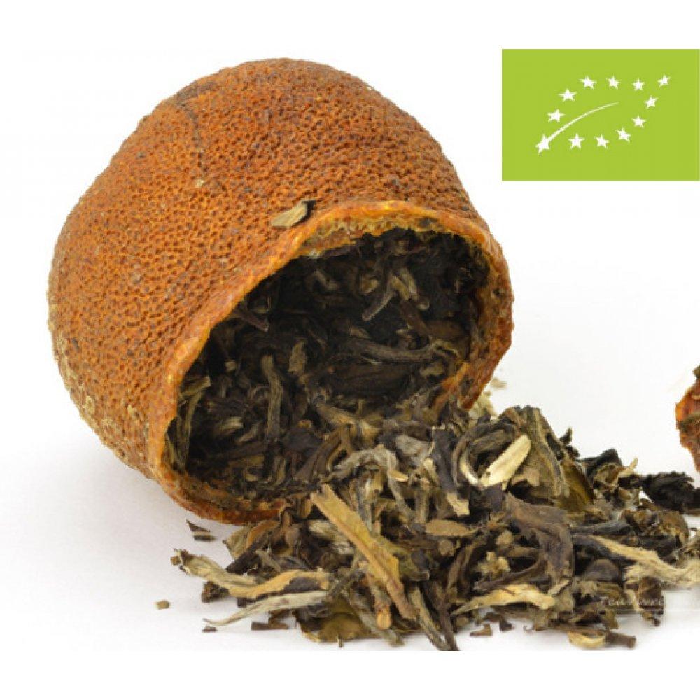 Tangerine umplute cu Ceai Alb White Peony