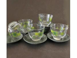Set / 5 Cupe Sticla Japonia