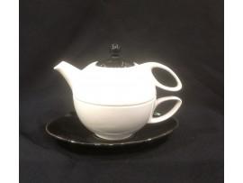 Tea For One Alb-Negru Colectia Manchester