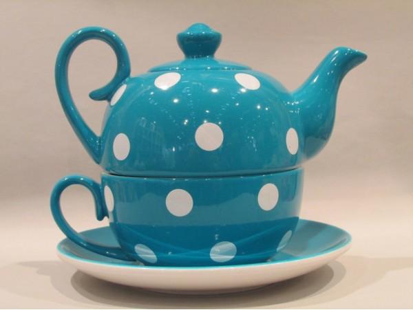 Tea for One Colectia Albastru cu Buline