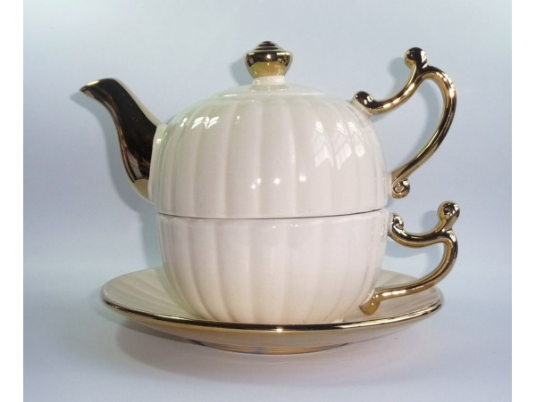 Tea for One Colectia Bej cu Auriu