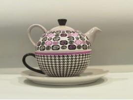 Tea For One Colectia Cercuri Gri si Violet