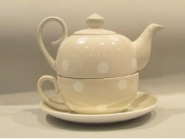 Tea for One Colectia Gri cu Buline