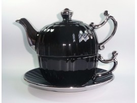 Tea For One Colectia Negru cu Argintiu