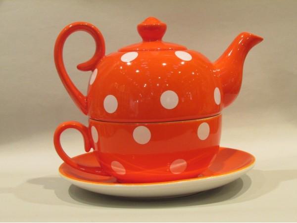 Tea for One Colectia Portocaliu cu Buline