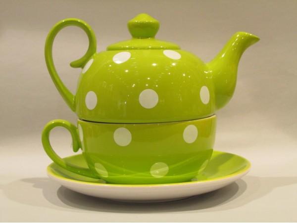 Tea for One Colectia Verde cu Buline