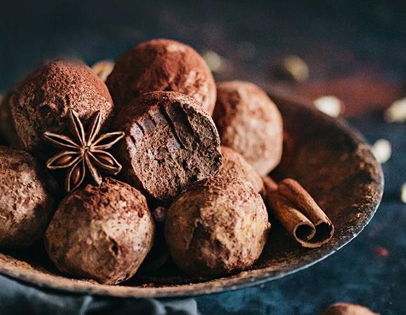 Trufe de ciocolata cu zmeura